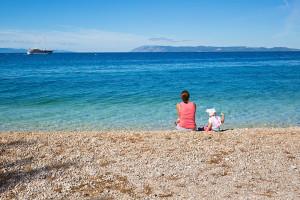 pláž Podgora, Makarská riviéra, Chorvatsko