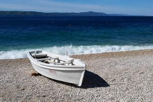 Pláž, Živogošće - Mala Duba, Makarská riviéra, Chorvatsko