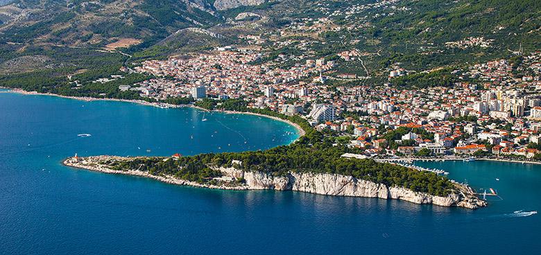 Poloostrov Sv. Petar, Makarska, Makarská riviéra, Chorvatsko