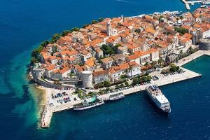 Historické jádro města Korčula, ostrov Korčula, Chorvatsko
